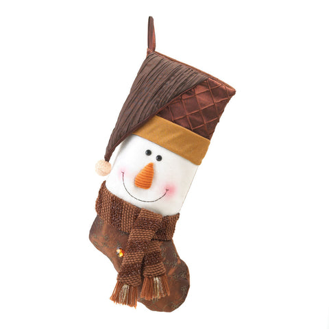 Smiling Snowman Holiday Stocking