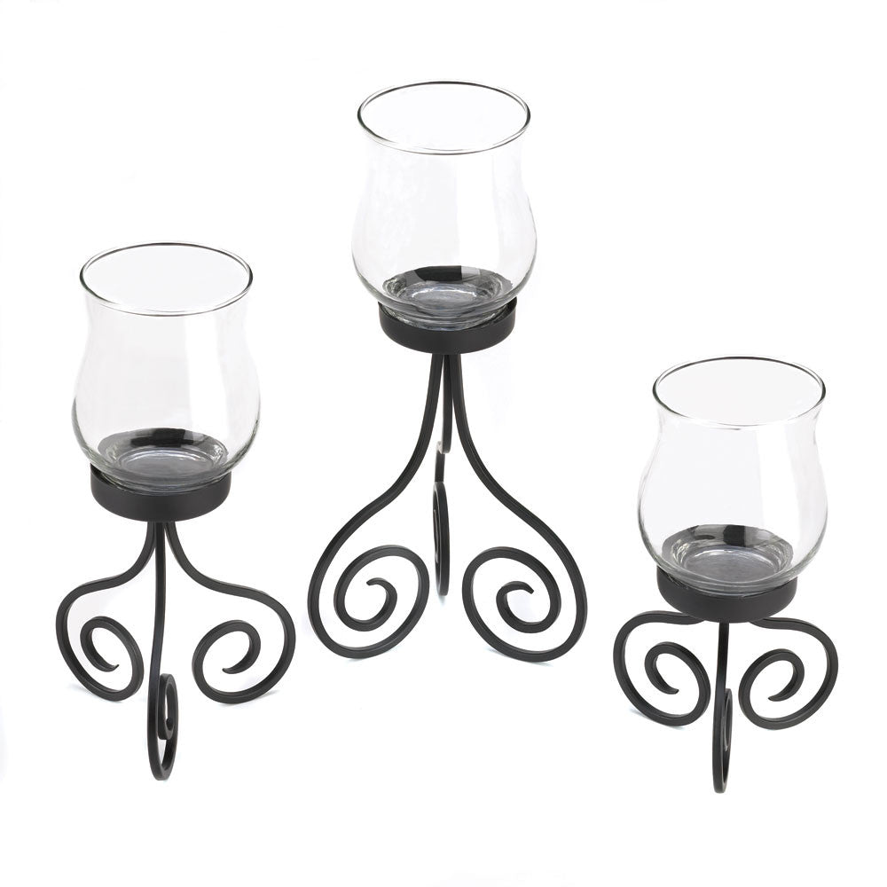 Set Of 3 Hurricane Lanterns