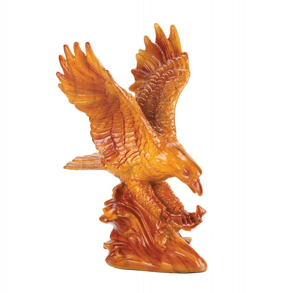 Soaring Eagle Catching Fish Statue