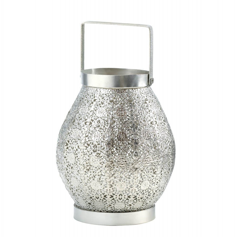 Silver Shimmer Candle Lamp