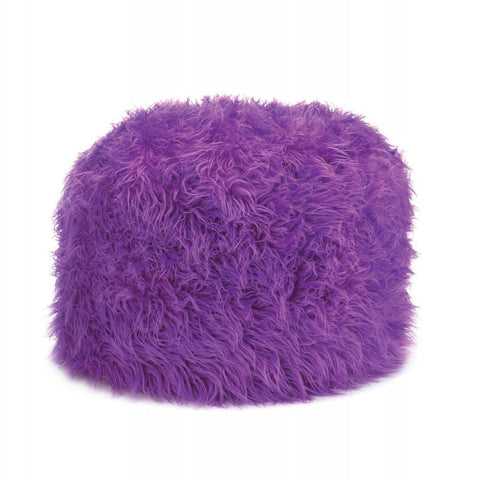 Fuzzy Ottoman Orchid Pouf