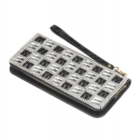 Checker Glass Wallet
