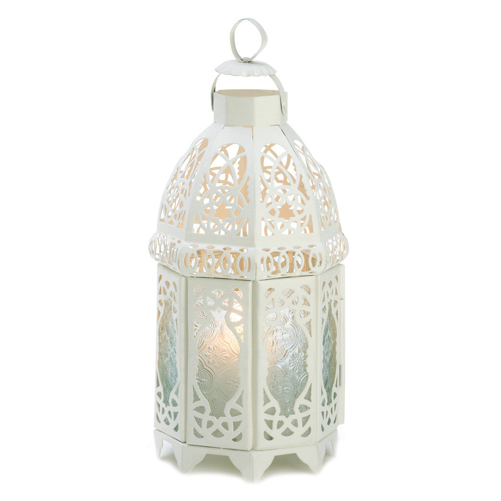 White Lattice Lantern