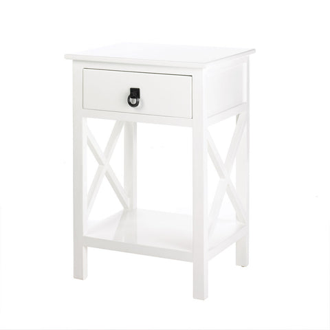 Classic White Side Table