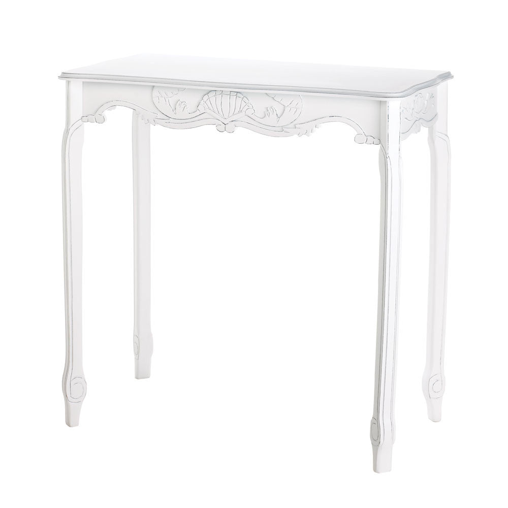 Distressed White Hallway Table