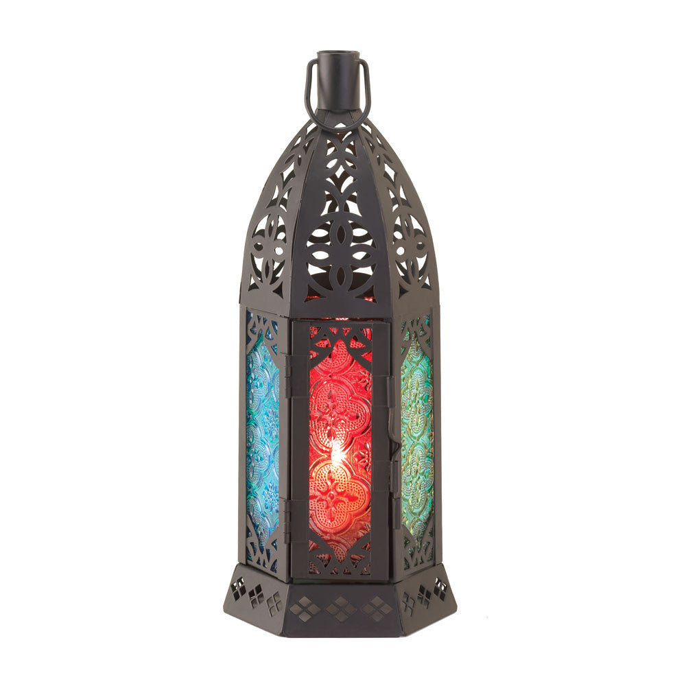 Multi-colored Candle Lantern