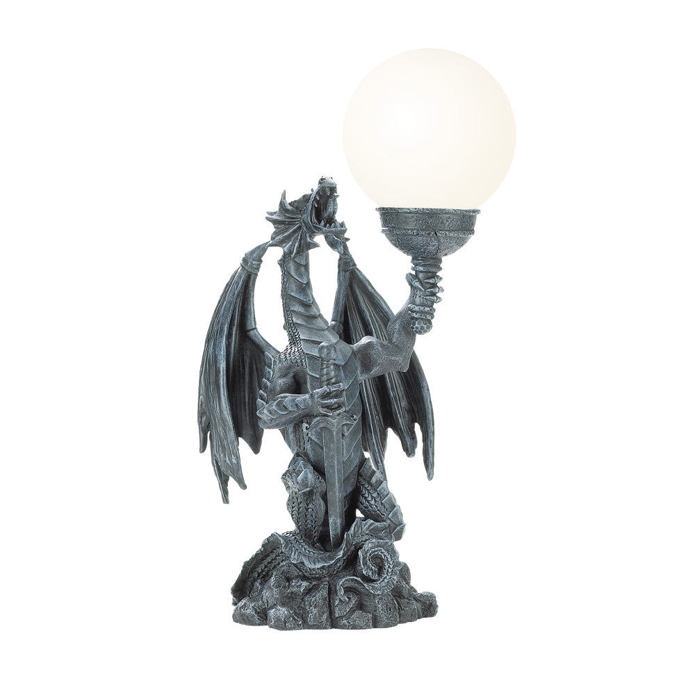 Dragon W/ Globe Table Lamp