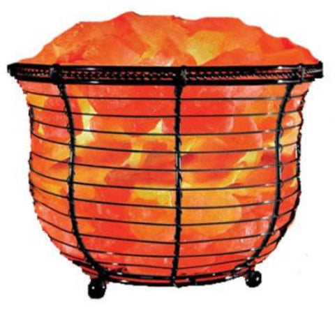 Himalayan Salt Tall Basket Lamp