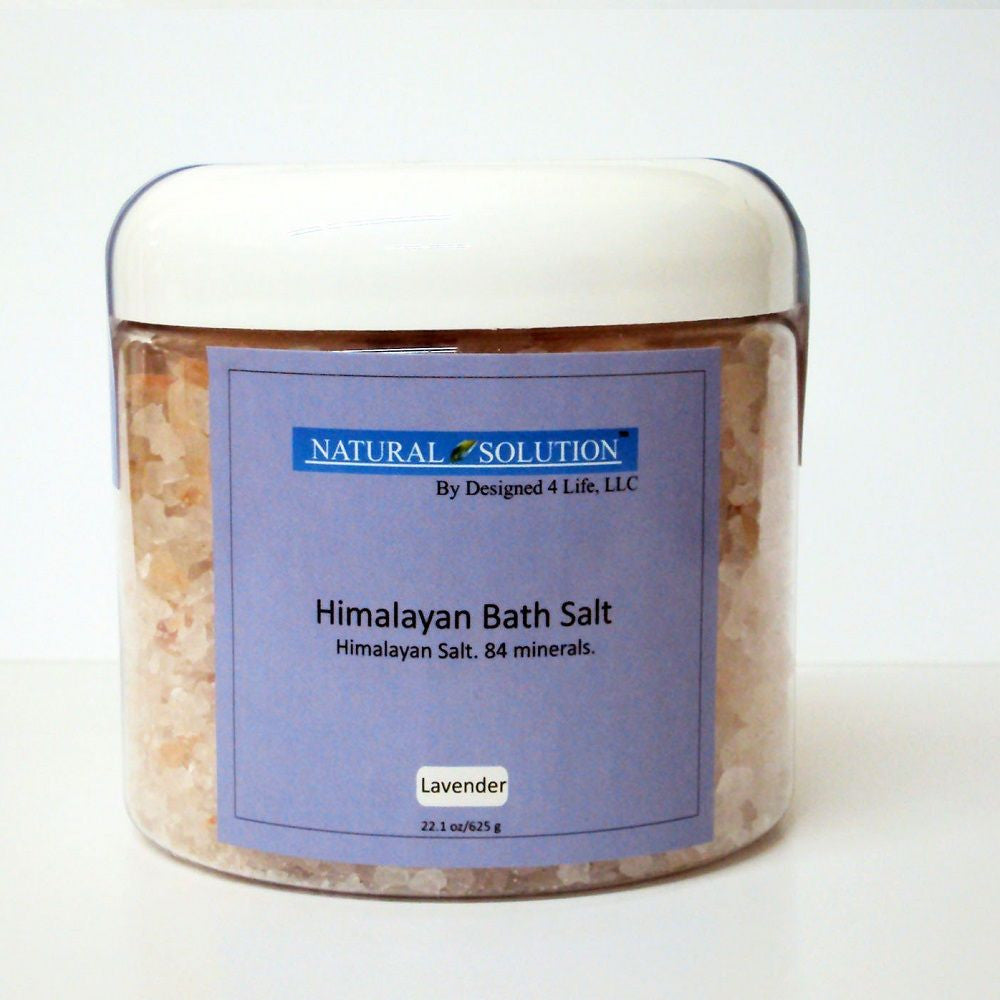 Himalayan Bath Salts In Jar - Lavender
