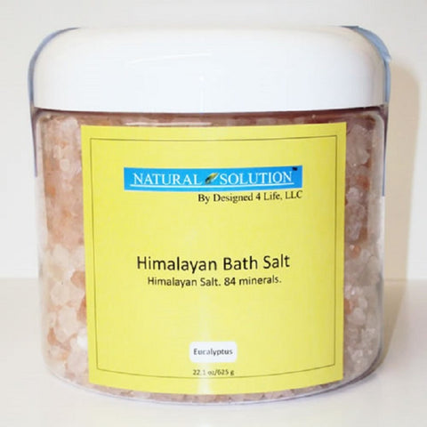 Himalayan Bath Salts In Jar - Eucalyptus