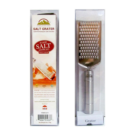 Grater With Himalayan Salt Chunks