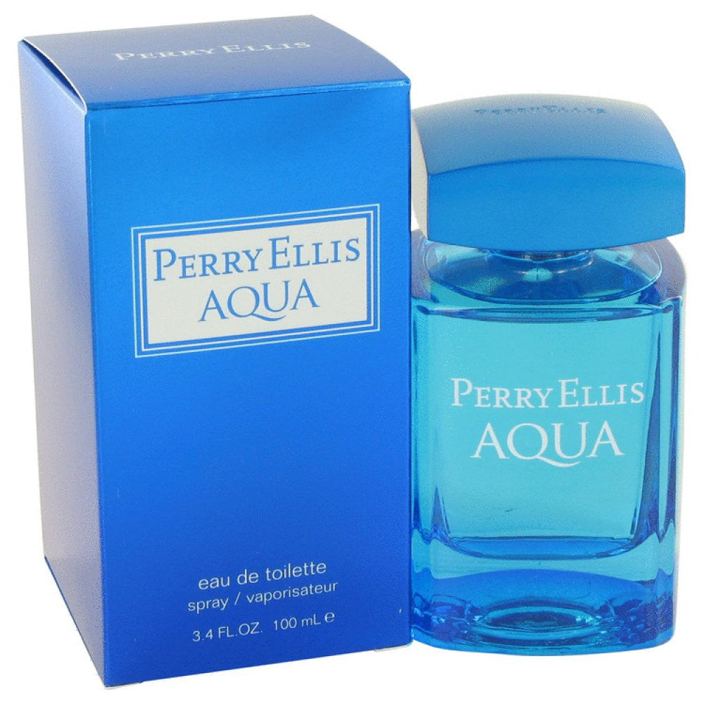 Perry Ellis Aqua By Perry Ellis Eau De Toilette Spray 3.4 Oz