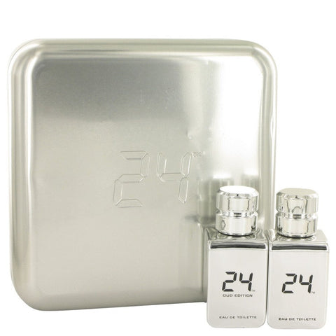 24 Platinum The Fragrance By Scentstory Gift Set -- 24 Platinum 1.7 Oz Eau De Toilette Spray + 24 Platinum Oud 1.7 Oz Eau De Toilette Spray