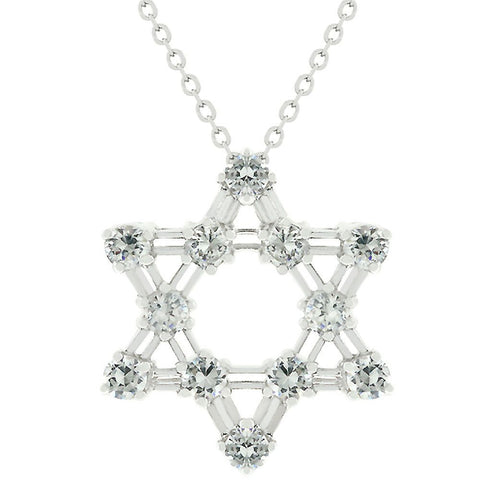 Cz Star Of David Pendant