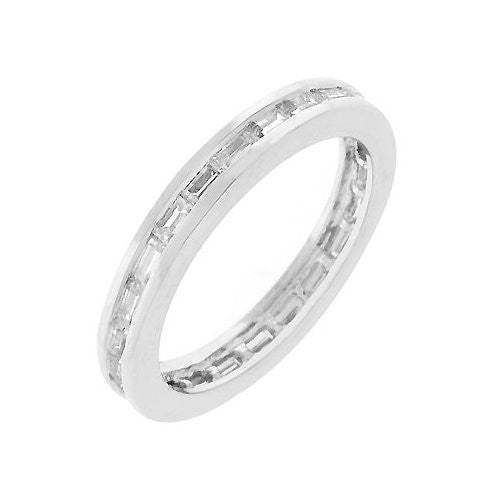 Bright White Stacker Ring (size: 06)