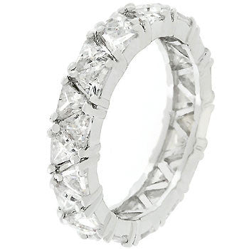 Silver Tone Trillion Fashionista Ring (size: 09)
