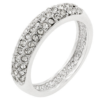 Silvertone Beauty Ring (size: 09)