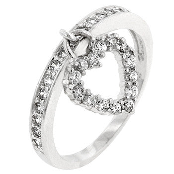 Heart Charming Ring (size: 08)