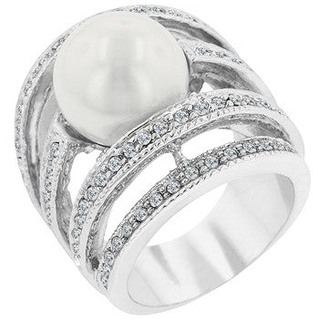 Right-hand Pearl Ring (size: 10)