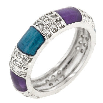 Purple And Turquoise Fashion Ring (size: 09)
