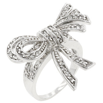 Large Cz Bow Ring (size: 08)