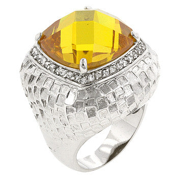 Yellow Cocktail Ring (size: 09)