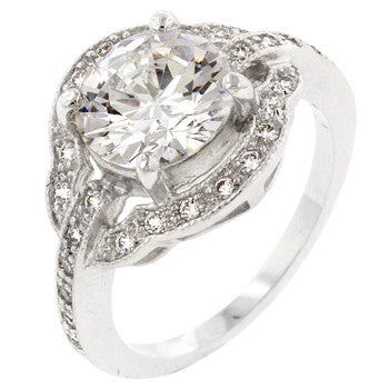 Antique Style Engagement Ring (size: 10)