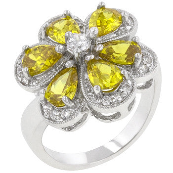 Yellow Floral Ring (size: 07)