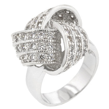 Large Cz Knot Ring (size: 08)