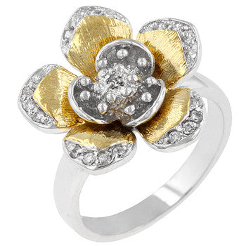 Floral Cocktail Ring (size: 06)