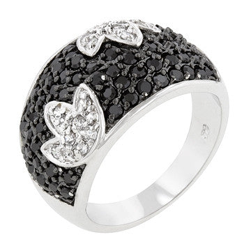 Black And White Cocktail Ring (size: 09)
