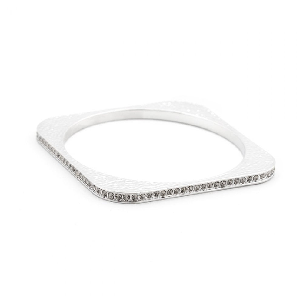 Hammered Cz Square Bangle