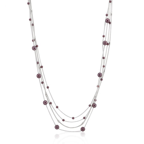 Purple Orbital Necklace