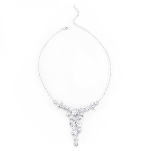 Bejeweled Cz Bib Necklace