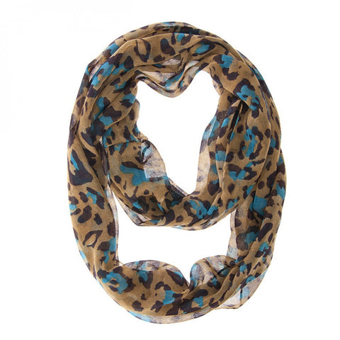 Cheetah Blue Lux Infinity Scarf