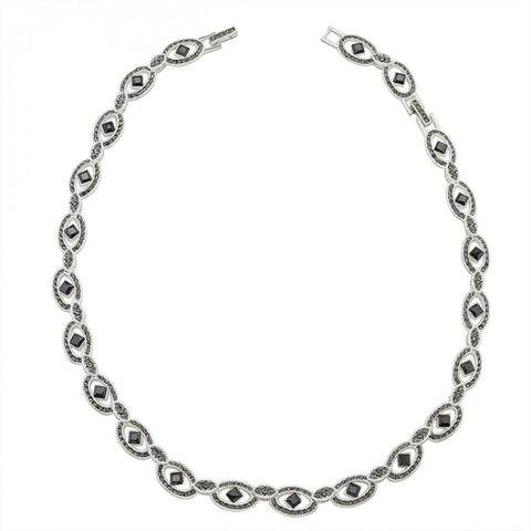 Elegant Black Cubic Zirconia Necklace