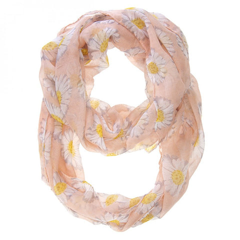 Sunflower Pink Infinity Scarf