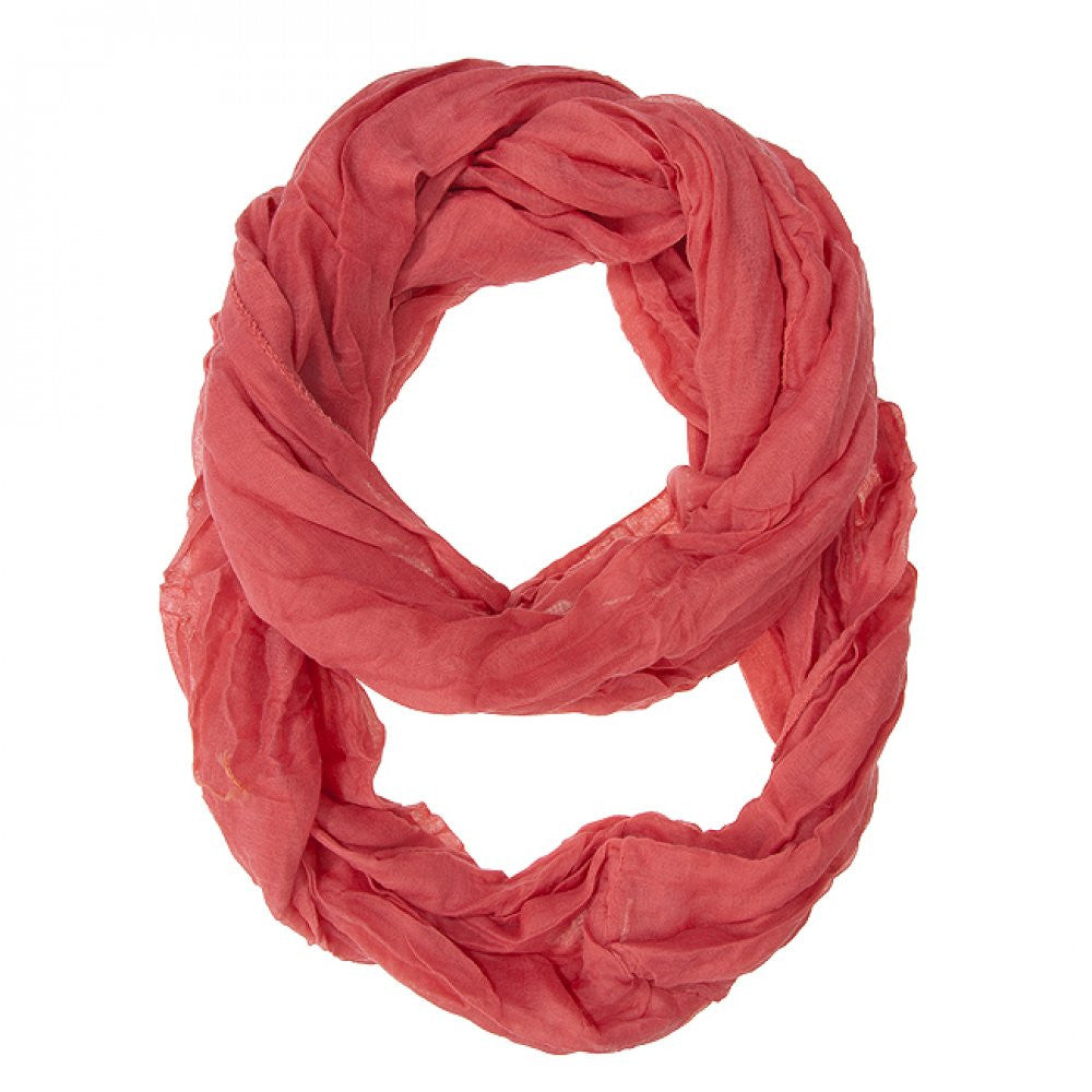 Coral Genevieve Infinity Scarf