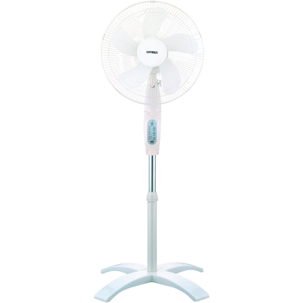 "Optimus 16"" Wave Oscillating Stand Fan (with Remote)"