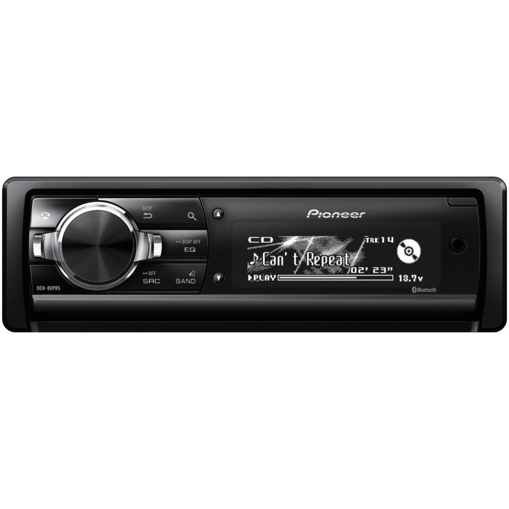 Single-din In-dash Cd Receiver With Built-in Bluetooth & Hd Radio