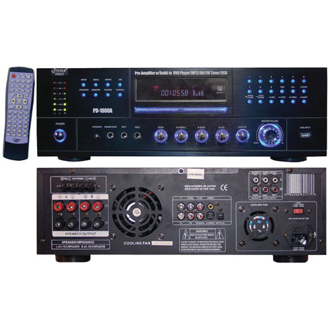 Pyle Home 1000-watt Am And Fm Receiver With Built-in Dvd Mp3 & Usb