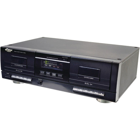 Pyle Pro Dual Cassette Deck With Mp3 Conversion