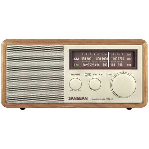 Sangean Wood Cabinet Am And Fm Table Top Radio