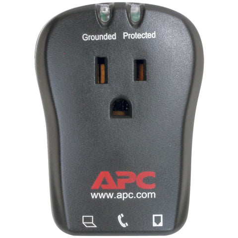 Apc 1-outlet Travel Surge Protector With Telephone Protection