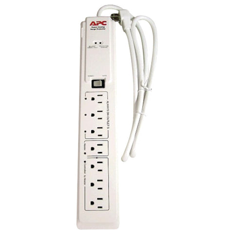 Apc 7-outlet Surge Protector With Master And Controlled Outlets