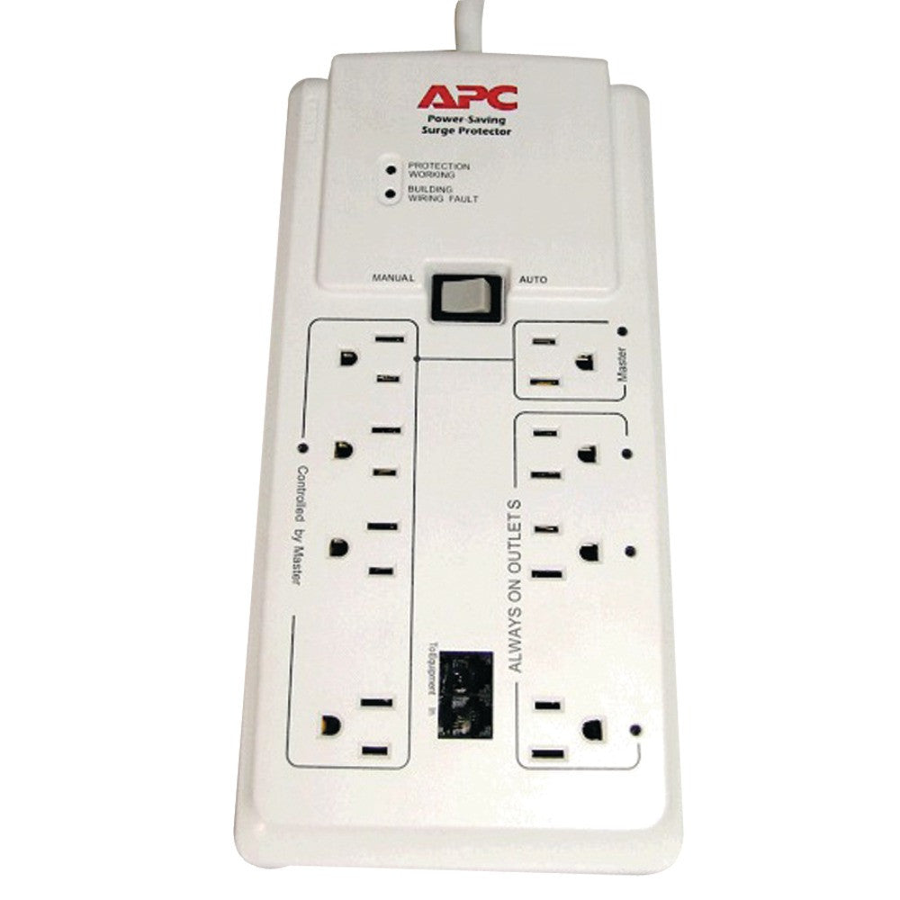 Apc 8-outlet Surge Protector With Master And Controlled Outlets