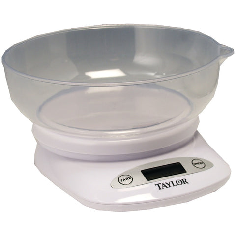Taylor 4.4lb Capacity Digital Kitchen Scale With Bowl