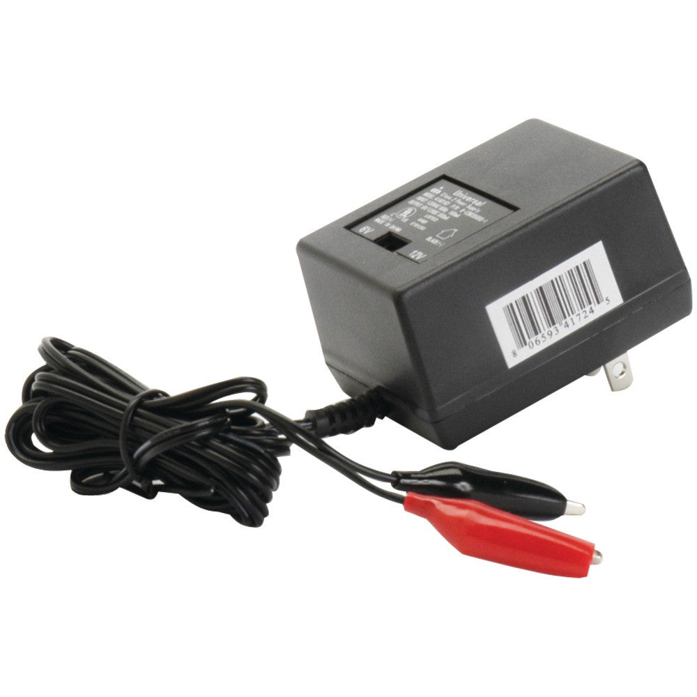 Upg Sealed Lead Acid Battery Charger (6v And 12v Switchable Single-stage With Alligator Clips)