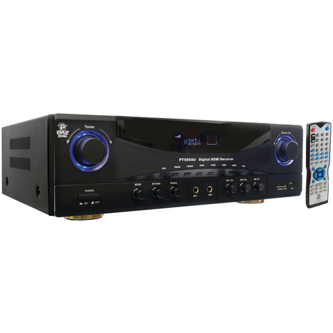 Pyle Home 5.1-channel 350-watt Amplifier Reciever With 3d Pass Thru Usb And Sd Card Reader & Hdmi