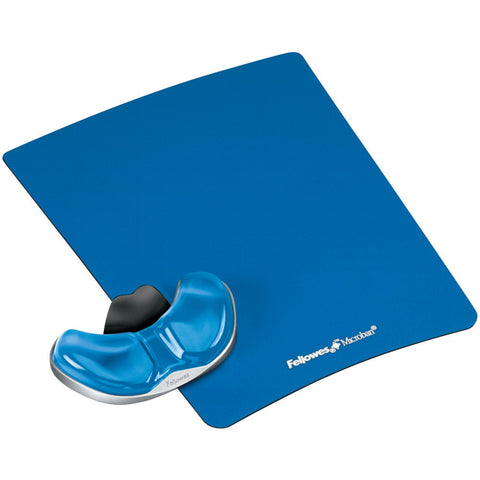 Fellowes Gliding Palm Support With Microban Protection (blue Gel)